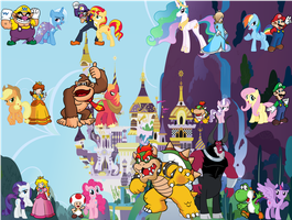 Super Mario Characters And My Little Pony Characte by DANIOTHEMAN