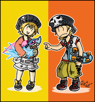 More TWEWY stuff. by GreenWiggly