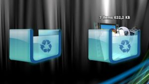 Glass 3D RecycleBin for xwidget by Jimking
