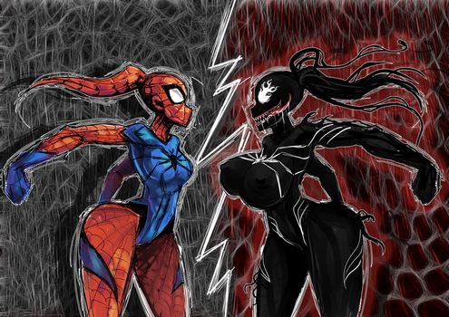 Spider versus by famorphing