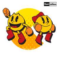 Pacman And Ms.Pacman by Mariohenri