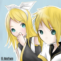 AT: Rin and Len by Aii-luv
