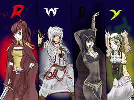 Rwby Fire Emblem by KillerWave44