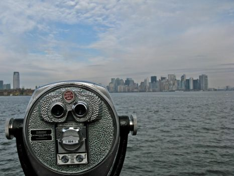 view of downtown manhattan by reeceb