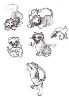 Cheshire cat sketches by Monstrous-Teaparty