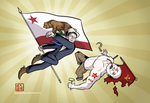 Reagan Knocks Out Putin by SouthParkTaoist