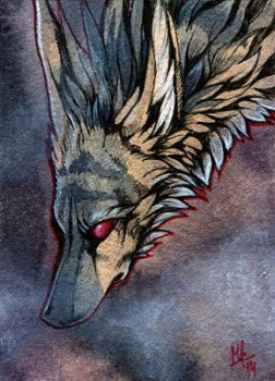 In the mist - ACEO for AlexiaMoonshine by wolf-minori