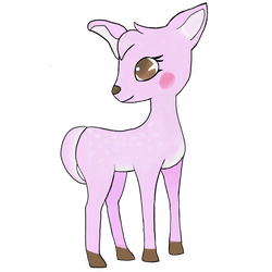 Girly fawn by Dreamywitchy