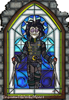 Edward Scissorhands Stainglass by DreamWithinTheHeart