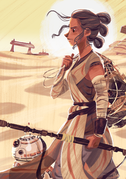 Rey, The scavenger by ArtofFlo