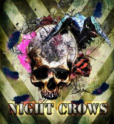 Night Crows Ship Pinup Art by matt-adlard