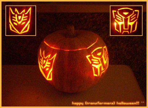 happy transformers halloween by st3rn1