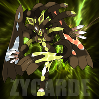 Zygarde's perfect forme Pokemon Gijinka by Phatmon