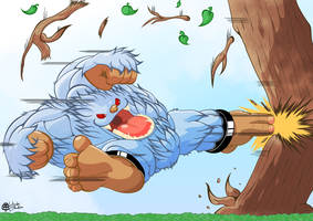 Mighty Sasquatch Kick -GN3- (Colored) by CatchShiro