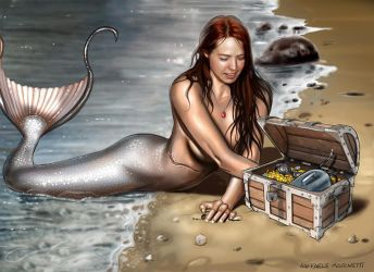 Jenn Mermaid - commission by RaffaeleMarinetti