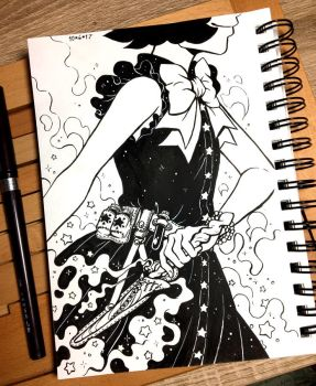 Inktober 2017 Day 6 - Sword by celesse