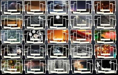 Polaroid Weather Night Images for UCCW by ECadro