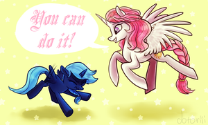 Luna's Flying Lesson by Dotoriii