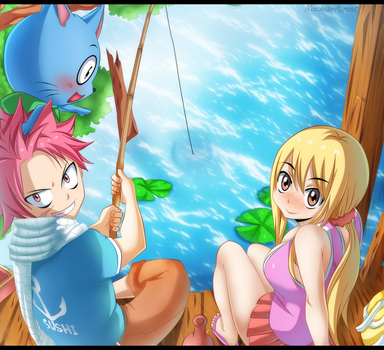 Fishing!! - Fairy Tail by NuclearAgent