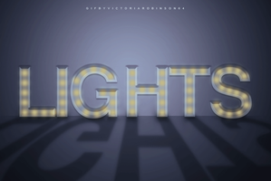 Lights Typography by viarobinson