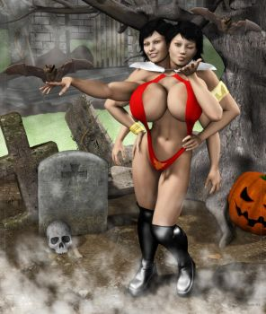 Sahlia as Vampirella by Stone3D