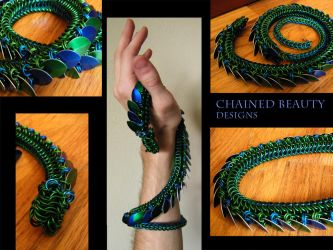Chainmail Dragon by ChainedBeauty