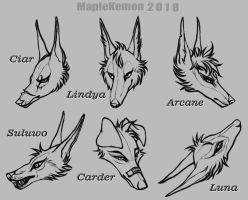Headbust Lineart Gifts by MapleKemon