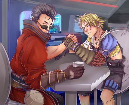 C: Tidus and Auron by Decora-Chan