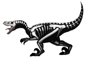 Halloween Dino Adopt - Skeletal Raptor by albinoraven666fanart