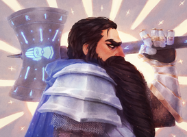 Dwarven Cleric of Helm - Dungeons and Dragons by Naimly