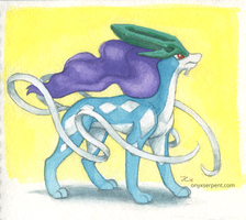 Inktober #3 - Suicune by OnyxSerpent