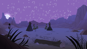 Tipi Desert Night by BonesWolbach