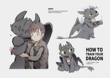 Hiccup and Toothless by MUITOTW