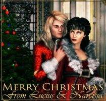 Merry Christmas from Lucius and Narcissa by deslea