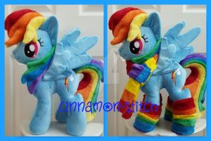 mlp plushie commissions Rainbowdash by CINNAMON-STITCH