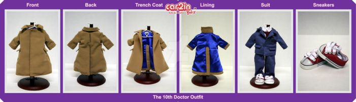 The 10th Doctor Doll Clothes by car2in-bitz