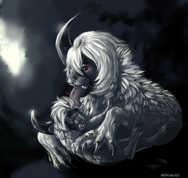 Absol by Kipine