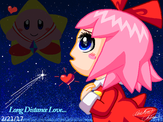 Ribbon x Kirby: Long Distance Love by Bowser2Queen