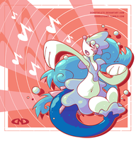 Totally Fake Gen 7 Starter Evolution (Primarina) by DoNotDelete