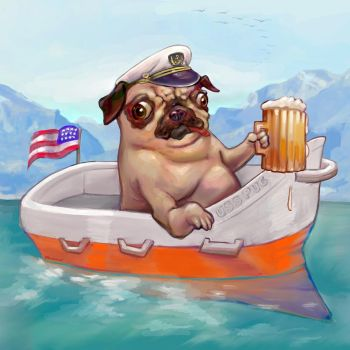 Pug Boat (My Happy Place) by BoKaier