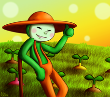 Hello there, mr. farmer by Shini-Smurf