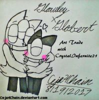 AT with CrystalInfernite21 Glowley X Globert :3 by Ceja4Chain