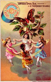 Victorian Advertising - Butterfly Fairy Circle by Yesterdays-Paper