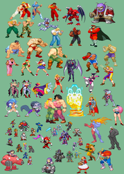 Ultimate Sonic Fighter - Capcom Guests by Tailikku1