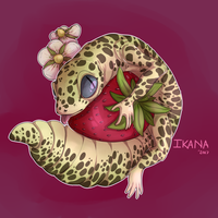 Leopard Gecko Fruits by GinghamDragon