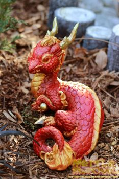 Royal Red Eastern Dragon Hatchling by The-SixthLeafClover