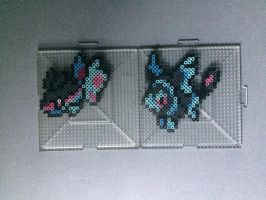 #456-#457 Finneon and Lumineon Perlers by TehMorrison