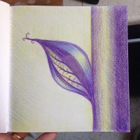 Abstract purple plant by azzza