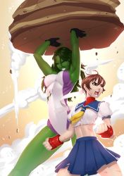 She Hulk and Sakura by alanscampos