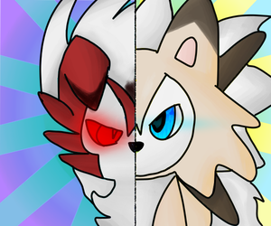 Lycanroc midday and midnight by Pixiearth